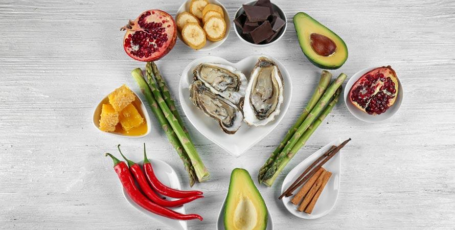 Eating aphrodisiac foods