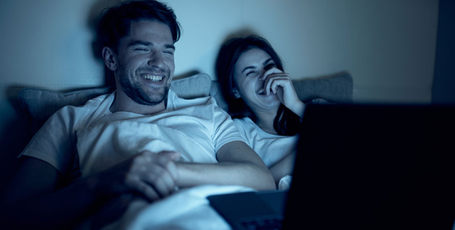 Watch A Movie In Bed