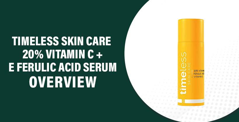 Timeless Skin Care 20% Vitamin C + E Ferulic Acid Serum