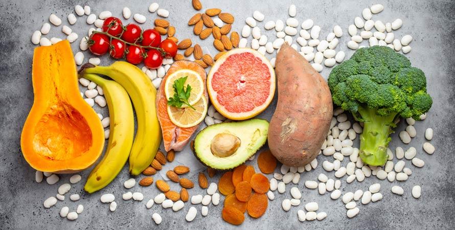 Vegetables fruits foods