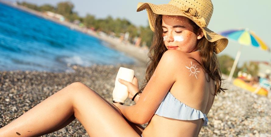 Wear oil-free sunscreen